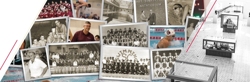 100 Years of Swimming and Diving collage